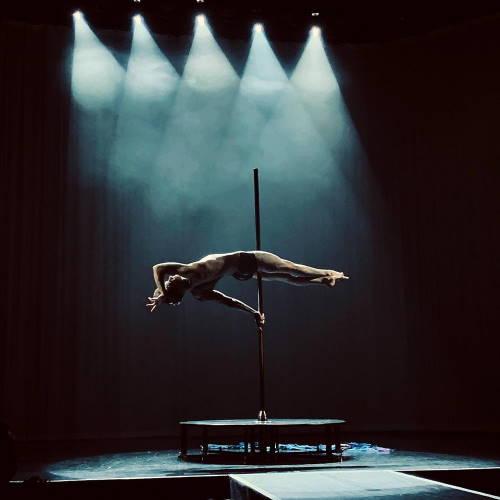 Quentin Dée en show pole dance